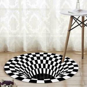 details sur tapis vortex illusion salon tapis moquette porte imprime tapis rond 3d e3x4 afficher le titre d origine