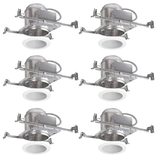 fits opening 6 in halo new construction airtight ic recessed light housing lamps lighting ceiling fans home garden