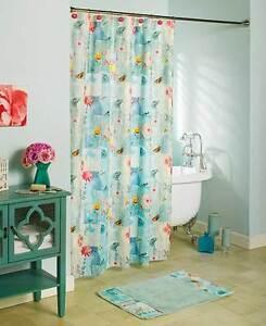 Serenade Floral Shower Curtain Spring Butterflies