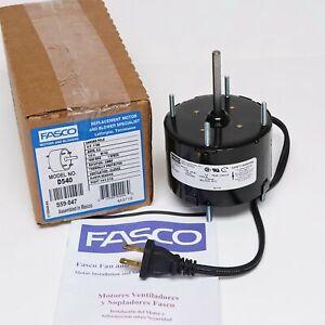 details about fasco d540 bath kitchen exhaust fan motor 1 100 hp