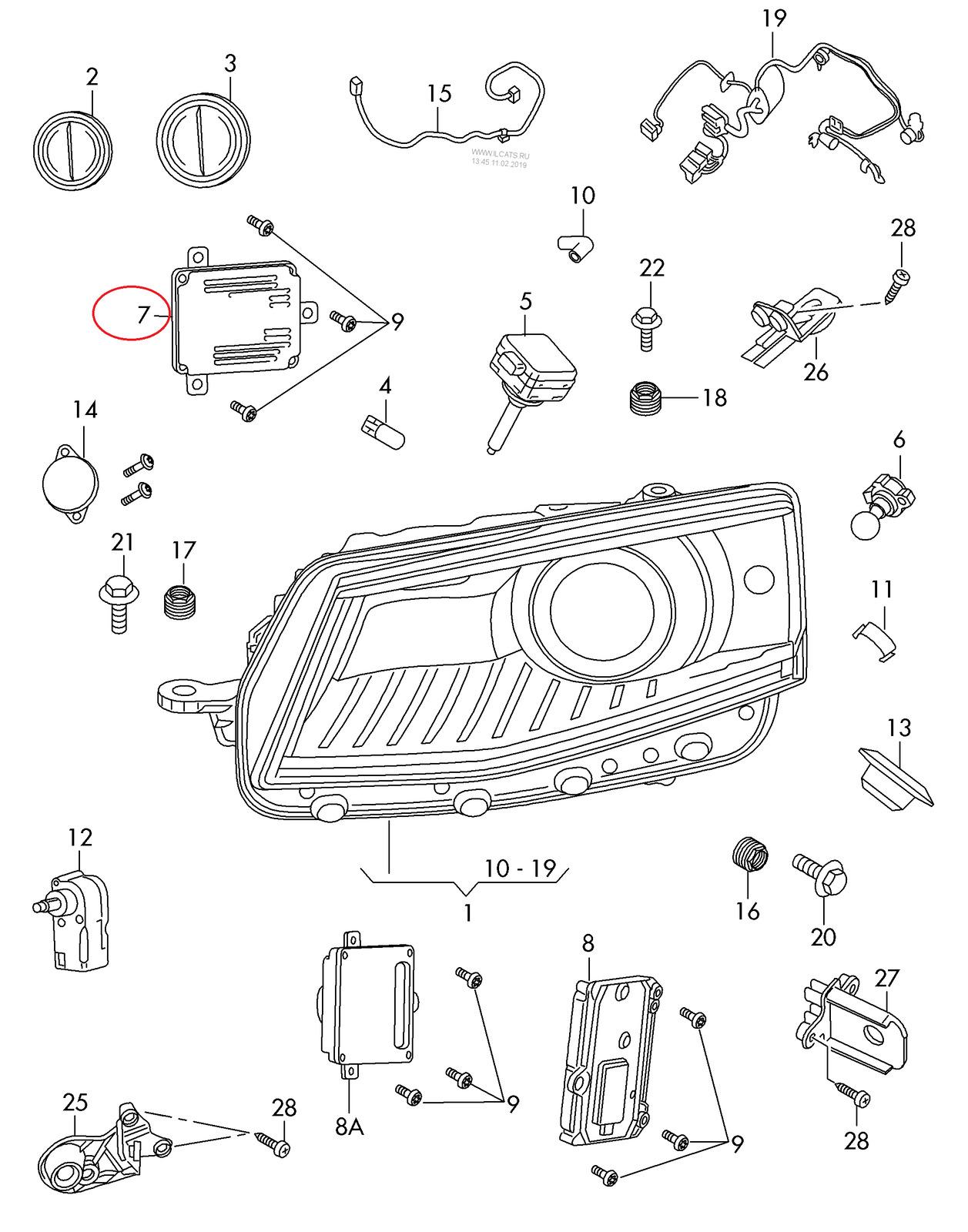 New Audi A8 D4 Headlight Led Control Unit Oem 4g D