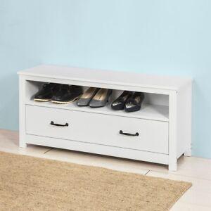 details sur sobuy banc de rangement commode a chaussures meuble d entree blanc fsr48 w fr