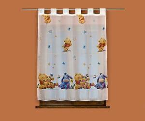 details sur rideau voilage chambre enfant a pattes winnie baby largeur 120cm