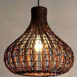 Image Is Loading Diy New Tropical Bamboo Chandelier Wicker Rattan Lamp