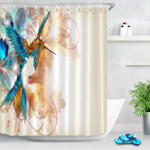 72x72 watercolor dragonfly shower