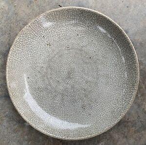 Antique Chinese C19th Or Earlier Porcelain Charger - Crackle Glaze Decoration