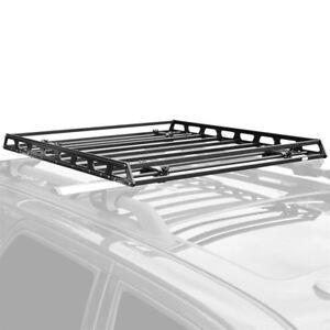 details zu elevate outdoor slim low profile car roof rack camping cargo basket