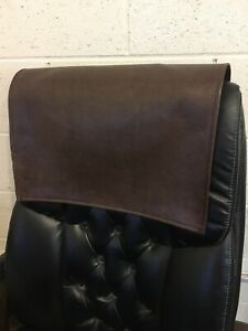 details about 14 by 30 inch brown recliner leather sofa couch head arm rest damage protector