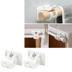 details about 2x curtain rod brackets no drill adjustable curtain rod holders for kitchen