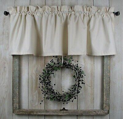 60 w natural muslin valance super muslin classic country farmhouse curtains ebay
