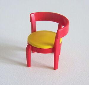 details sur playmobil r215 maison moderne chaise rouge jaune cuisine 4283 cafe 3989