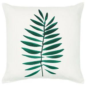 Détails Sur Ikea Vindfläkt Housse De Coussin Blanc Feuilles Vertes 50 Cm X 50 Cm Afficher Le Titre Dorigine