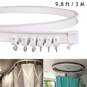 details about ceiling curtain track flexible curve rail rv camper bath shower privacy divider