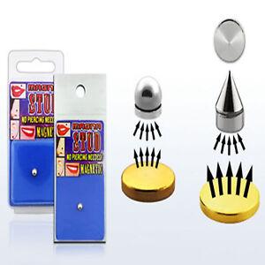 Fake Piercing Lippe Kugel oder Spitze 5 mm Magnet Kein Loch Nase Ohr