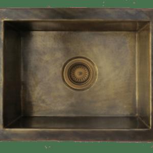 details about kitchen sink brass patina handhammered rectangle antique brass sink artisanal