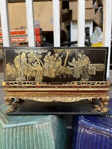 Chinese Antique Wood Carved Box Qing China Asian
