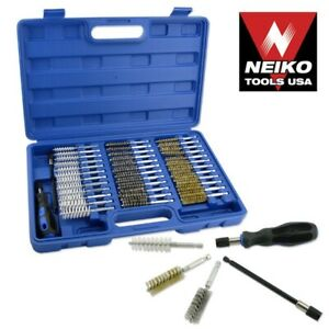 38pc Industrial Quality Wire Brush Set Extra Long Reach ...