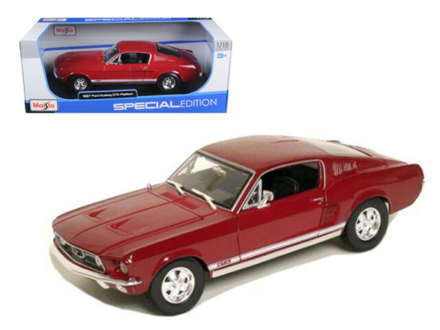 Buy mustang 1967 ford and get the best deals at the lowest prices on ebay! Maisto 1967 Ford Mustang Gta Fastback Diecast Car Special Edition Red 1 18 For Sale Online Ebay