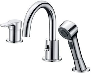 details about chrome bathroom faucet 3 piece cupc certified pull out shower head crea