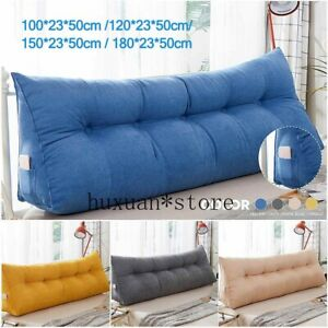 details about triangular backrest cushion sofa cushions bed rest pillow back support tatami