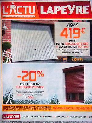 Publicite 2012 Lapeyre Volet Roulant Electrique Prestige Porte Basculante Ebay