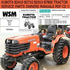 Image Is Loading Kubota B2410 B2710 B2910 B7800 Tractor Service Operator
