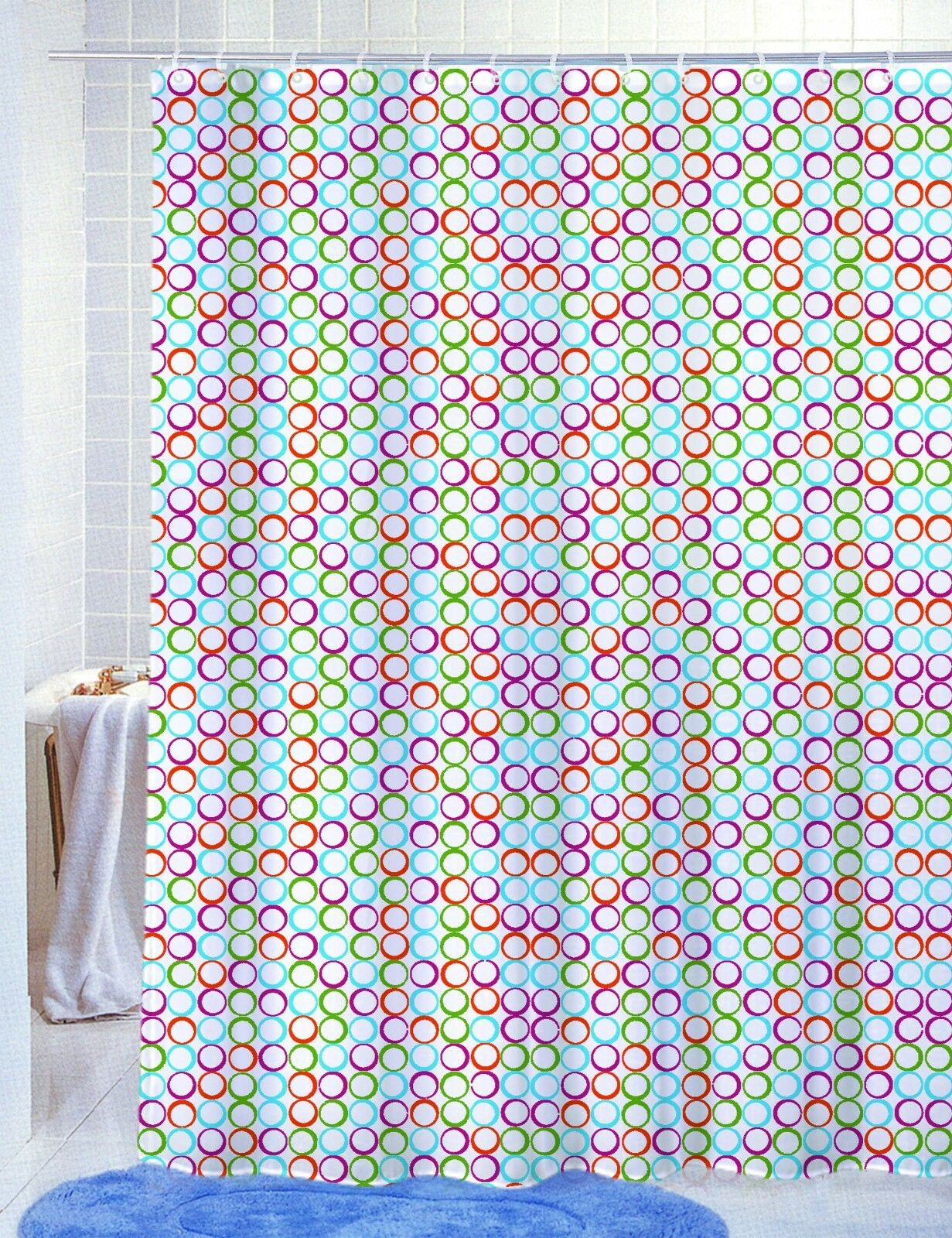 PVC Free PEVA Vinyl Printed Shower Curtain 70x72 Fun Modern Colorful Styles EBay