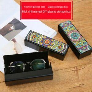 Simili Cuir Eye Verres Lunettes De Soleil Rangement Boite Diy Diamant Peinture Ebay