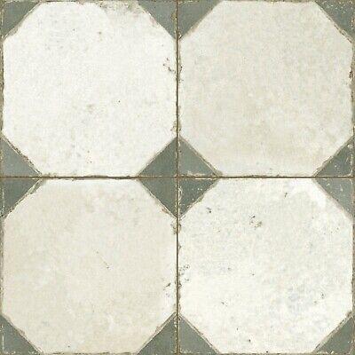 retro octagon sage vintage moroccan pattern floor tile aged worn ebay