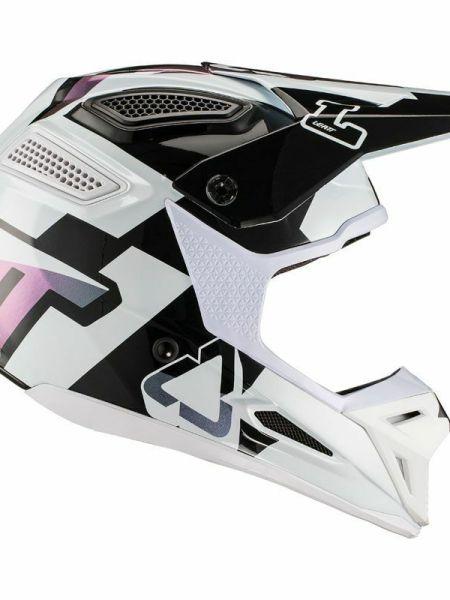 Casco Moto Cross Enduro Leatt GPX 5.5 V 19.2 bianco XS fibra offroad 53 54 cm