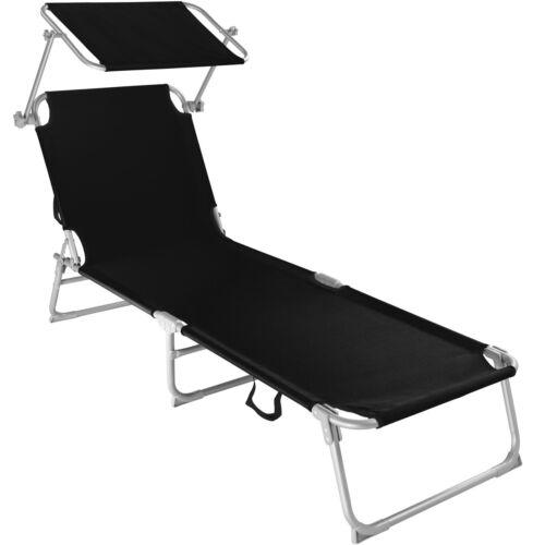 mobel chaise longue de jardin pliante transat bain de soleil pare soleil noir garten terrasse cbnet ir