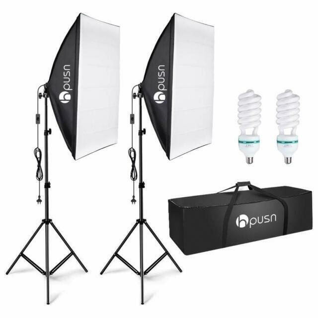 hpusn sb 02 softbox professional studio lighting kit