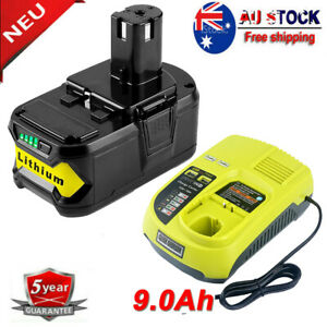 18v 9ah 6ah For Ryobi One Plus P108 Lithium Battery Rb18l50 With P117 Charger Ebay