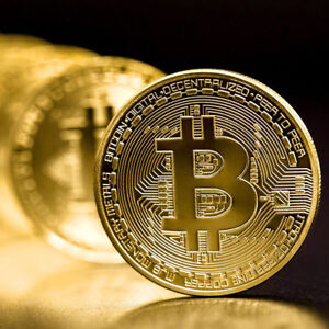 s-l300 BITCOIN!! Gold Plated Physical Bitcoin in protective acrylic case FAST SHIPPING