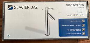 details about glacier bay 1003 899 553 modern vessel faucet polished chrome