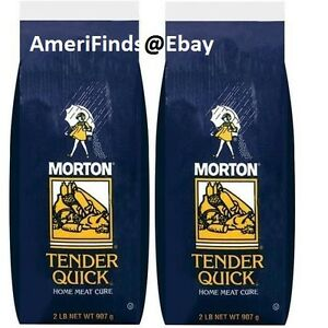 Morton Tender Quick Salt 2 lbs each Home Meat Cure Curing ...