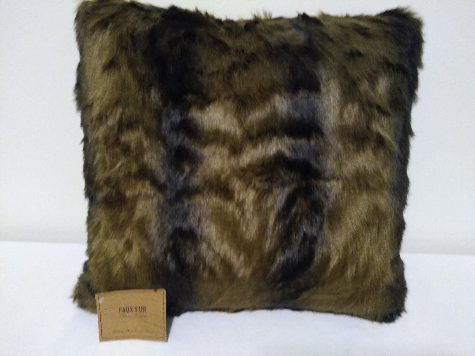 Oversized Blush Mongolian Faux Fur Lumbar Pillow Pink By World Market For Sale Online Ebay