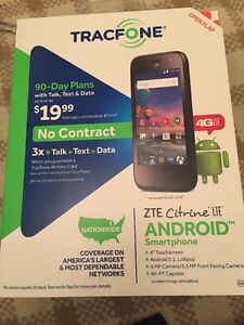 TracFone ZTE Citrine 4G LTE Prepaid Smartphone with Triple Minutes for Life NEW!