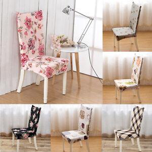 housse chaise salle manger couvre elastique extensible couverture