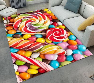 Sweet Candy Lollipop Living Room Kids Carpet Floor Mat Home Area Rug Bedroom Ebay