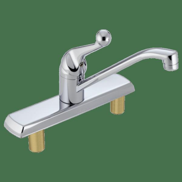 delta 120lf classic single handle kitchen faucet chrome