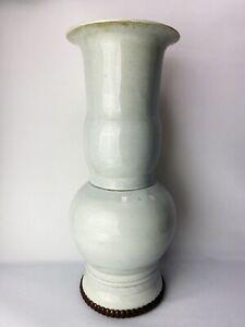 Qing Dynasty Chinese Antique Porcelain White Glazed Vase 19th Century