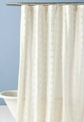 nwt anthropologie liliana lace shower curtain new floral ebay