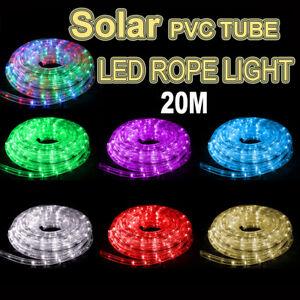 Image Is Loading Solar 20m Led Rope Lights Pvc Hard Tube