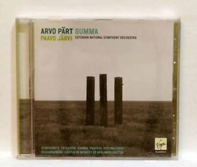 Image Is Loading Paavo Jarvi Arvo Part Summa Virgin Cd Nm