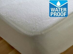 Image Is Loading Terry Towel Waterproof Mattress Protector Sizes Single Double