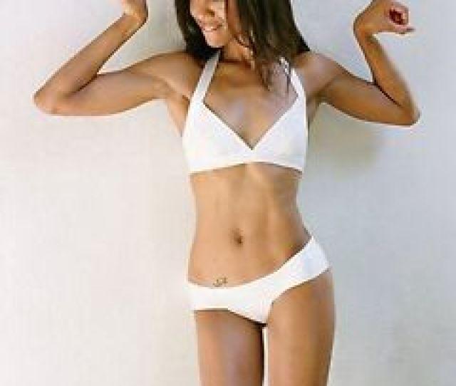 Image Is Loading Zoe Saldana Sexy Hot Pose White Bikini X