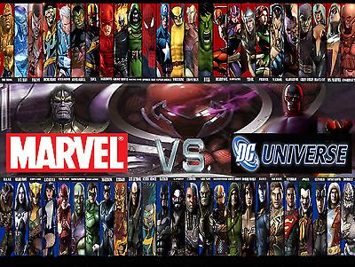 marvel vs dc style h poster 13x19 ebay