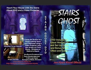 stairs ghost halloween window projection dvd 2017 jon hyers
