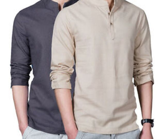 Image Is Loading Chinese Style Men  S Flax Linen T